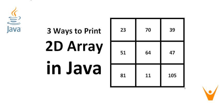 3 Ways to Print a 2D Array in Java (Print 3x3 Matrix)